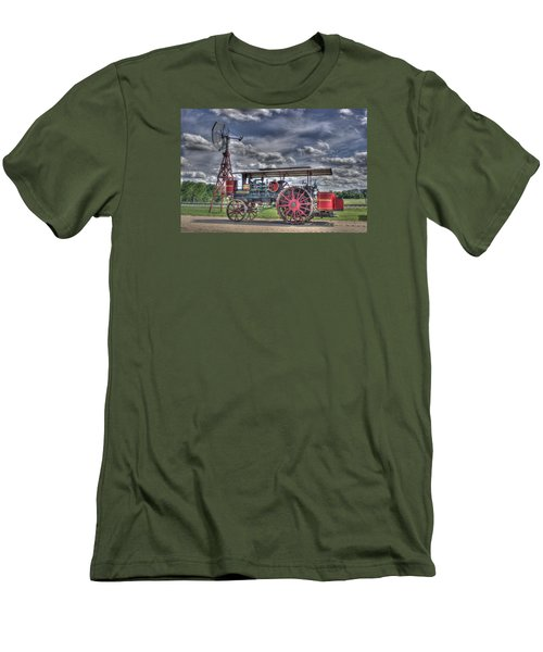 Minneapolis At The Windmill Men's T-Shirt (Slim Fit) by Shelly Gunderson