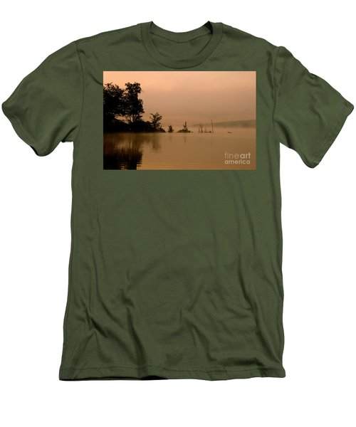Misty Morning Solitude  Men's T-Shirt (Slim Fit)