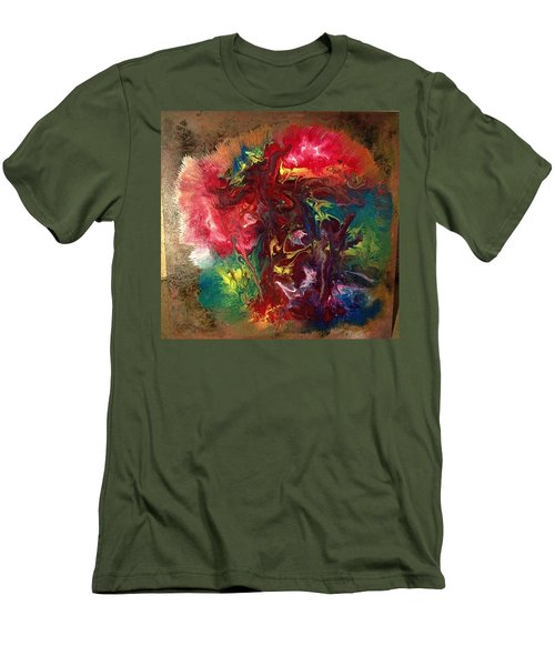 Mixed Media Abstract Post Modern Art By Alfredo Garcia Bizarre Men's T-Shirt (Athletic Fit)