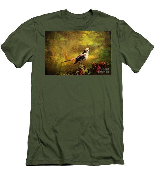Mockingbird Have You Heard... Men's T-Shirt (Slim Fit) by Lianne Schneider