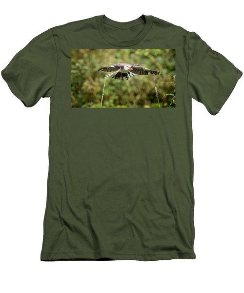Mockingbird In Flight Men's T-Shirt (Slim Fit) by Bill Wakeley