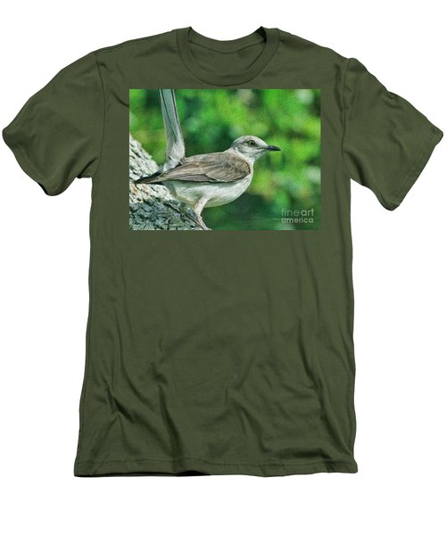 Mockingbird Pose Men's T-Shirt (Slim Fit) by Deborah Benoit
