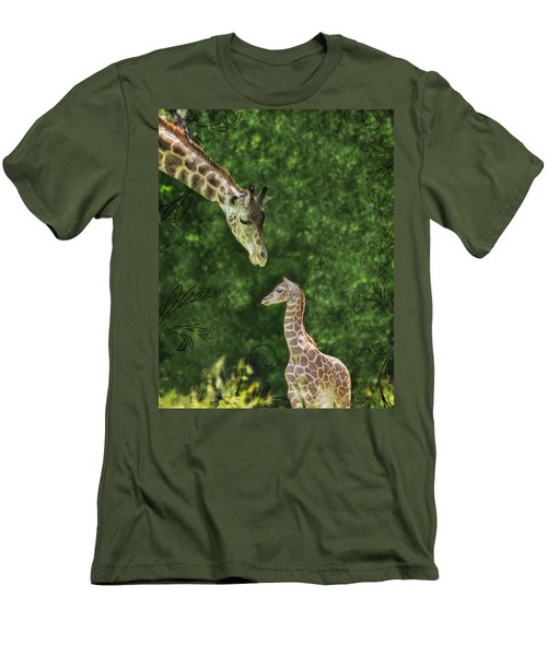 Men's T-Shirt (Slim Fit) featuring the photograph Momma Loves Me by Marianne Campolongo