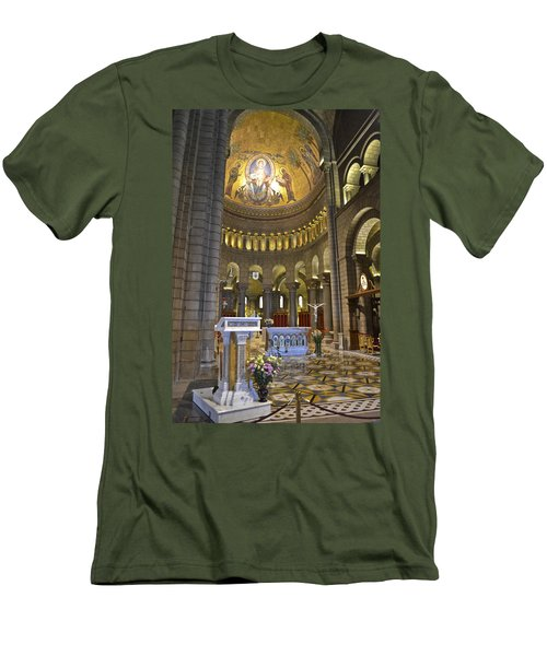 Men's T-Shirt (Slim Fit) featuring the photograph Monaco Cathedral by Allen Sheffield