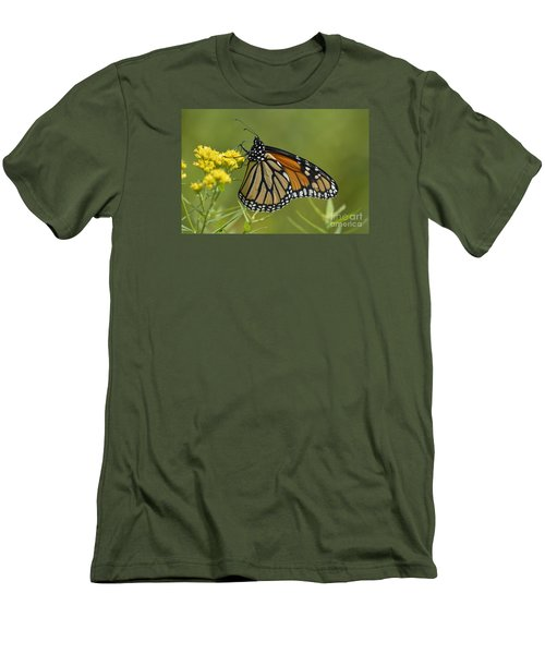 Men's T-Shirt (Slim Fit) featuring the photograph Monarch 2014 by Randy Bodkins