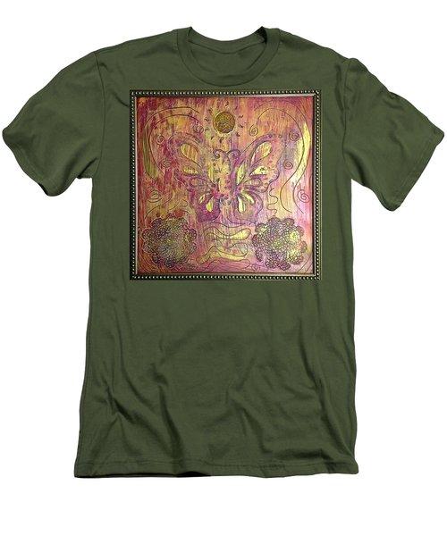 Monarch Butterfly By Alfredo Garcia Men's T-Shirt (Athletic Fit)
