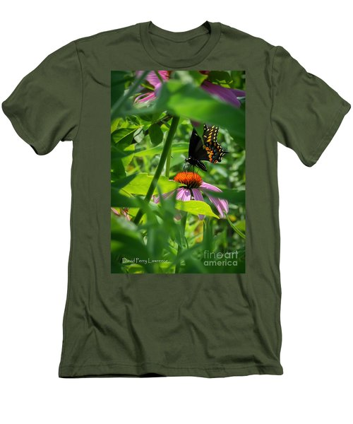 Monarch Butterfly Deep In The Jungle Men's T-Shirt (Athletic Fit)