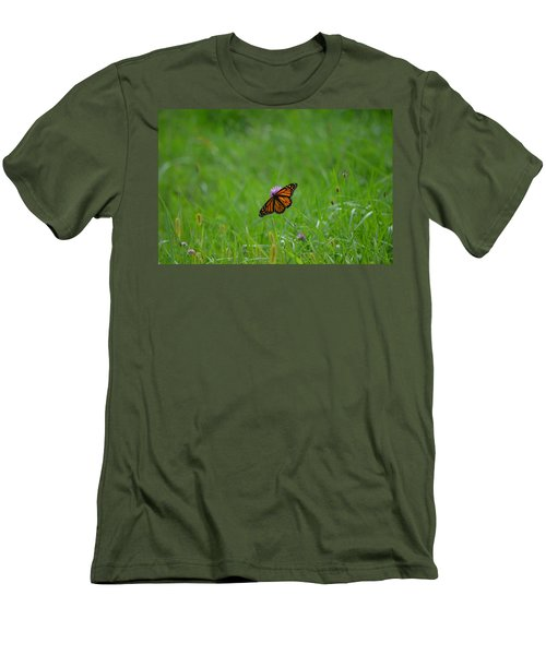 Men's T-Shirt (Slim Fit) featuring the photograph Monarch Butterfly by James Petersen