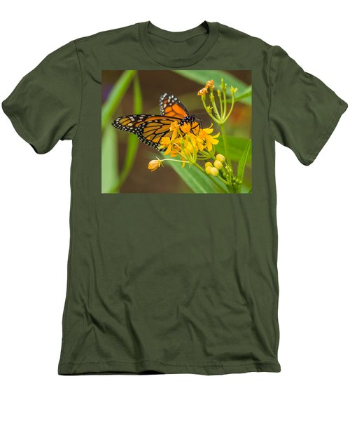 Men's T-Shirt (Slim Fit) featuring the photograph Monarch by Jane Luxton