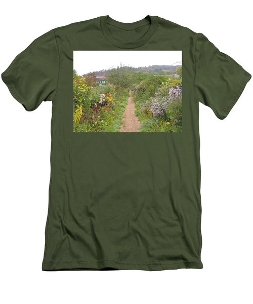 Monet's Garden 5 Men's T-Shirt (Slim Fit) by Ellen Meakin