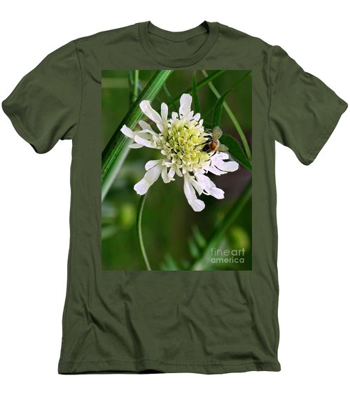 Men's T-Shirt (Slim Fit) featuring the photograph Monet's Garden Bee. Giverny by Jennie Breeze