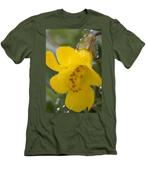 Men's T-Shirt (Slim Fit) featuring the photograph Monkey In Yellow by Sonya Lang