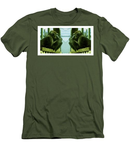 Monkey See Monkey Do Men's T-Shirt (Athletic Fit)