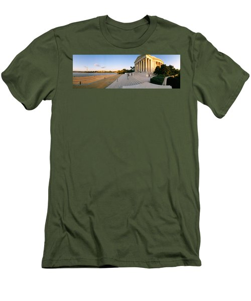Monument At The Riverside, Jefferson Men's T-Shirt (Athletic Fit)