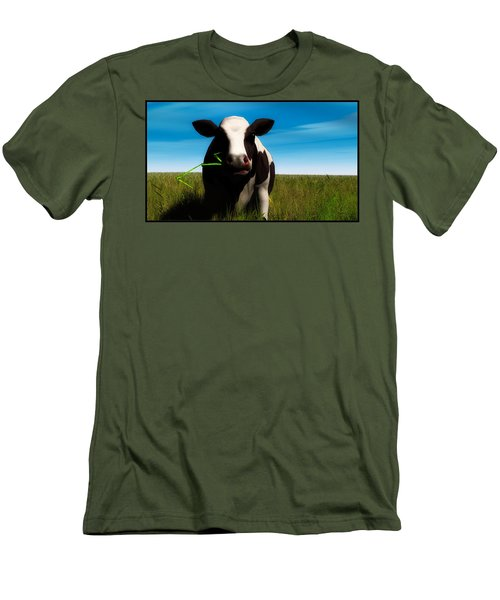 Men's T-Shirt (Slim Fit) featuring the digital art Moo... by Tim Fillingim