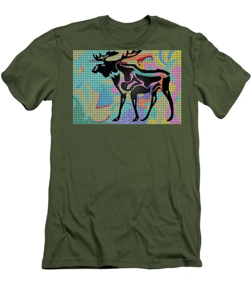 Moose Tracks Men's T-Shirt (Athletic Fit)