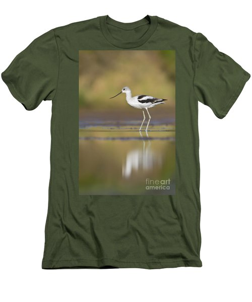 Men's T-Shirt (Slim Fit) featuring the photograph Morning Avocet by Bryan Keil