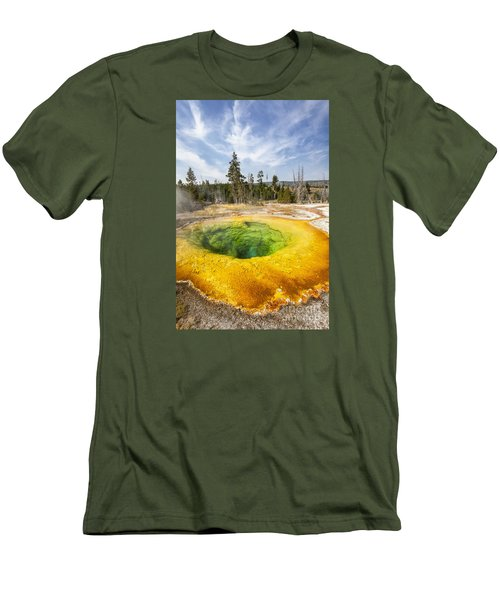 Morning Glory Pool In Yellowstone National Park Men's T-Shirt (Athletic Fit)