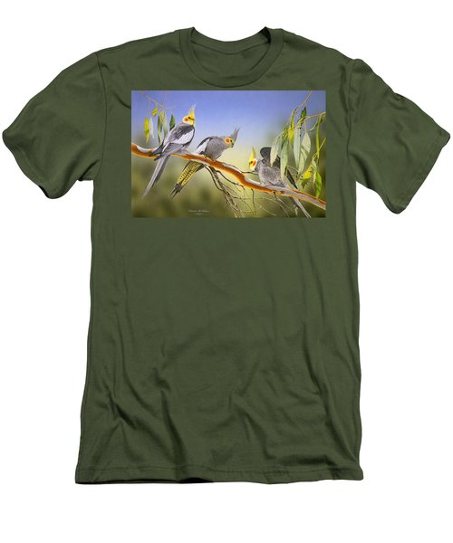Morning Light - Cockatiels Men's T-Shirt (Athletic Fit)