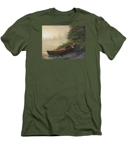 Men's T-Shirt (Slim Fit) featuring the painting Morning Mist by Kim Lockman