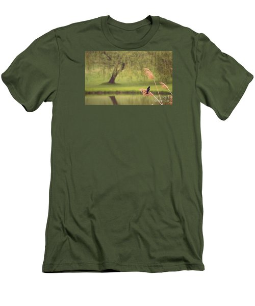 Men's T-Shirt (Slim Fit) featuring the photograph Morning Mood by Rima Biswas