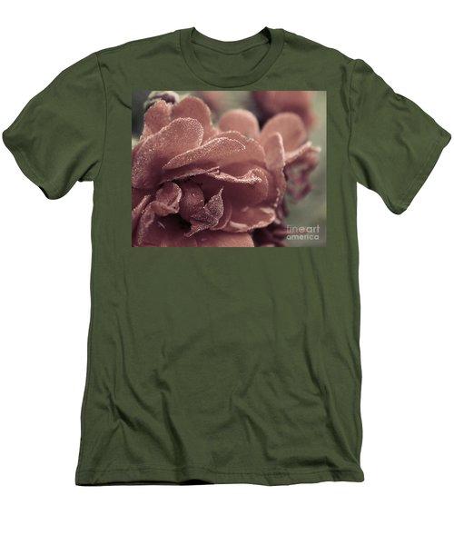 Morning Rose Men's T-Shirt (Slim Fit) by Melissa Petrey