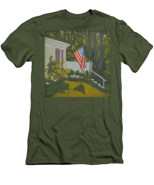 Morning Sun On Old Glory Men's T-Shirt (Athletic Fit)