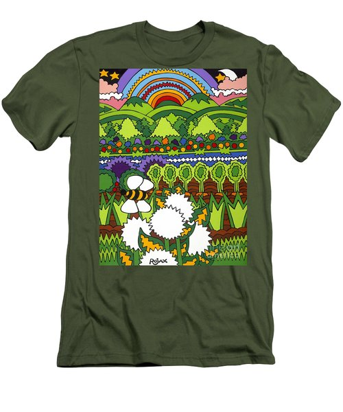 Mother Earth Men's T-Shirt (Slim Fit) by Rojax Art