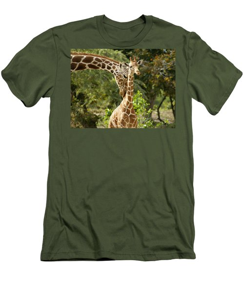 Mothers' Love Men's T-Shirt (Slim Fit) by Swank Photography