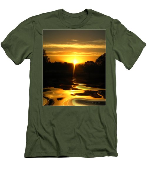 Mount Lassen Sunrise Gold Men's T-Shirt (Slim Fit) by Joyce Dickens