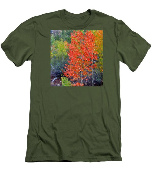 Men's T-Shirt (Slim Fit) featuring the photograph Mountain Color by Marilyn Diaz