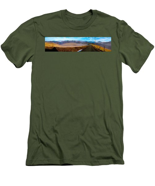 Mountain Farm Panorama Version 2 Men's T-Shirt (Slim Fit) by Tom Culver