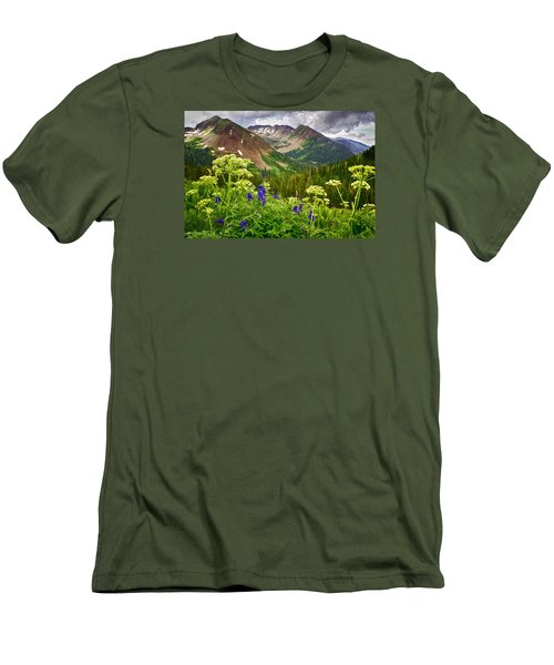 Mountain Majesty Men's T-Shirt (Slim Fit) by Priscilla Burgers