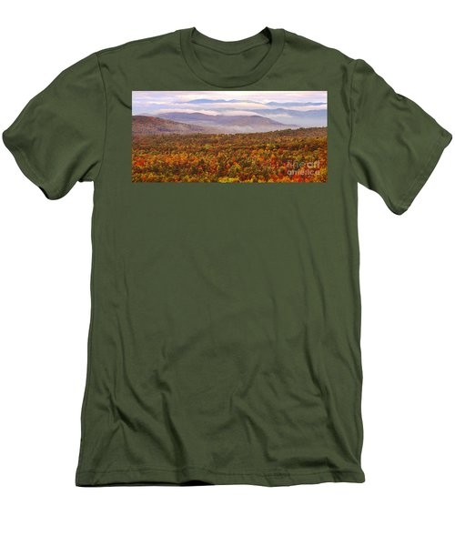 Mountain Mornin' In Autumn Men's T-Shirt (Slim Fit) by Lydia Holly