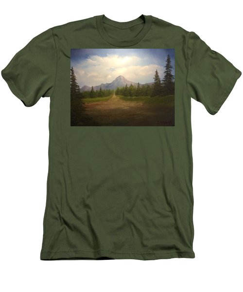 Mountain Run Road  Men's T-Shirt (Athletic Fit)