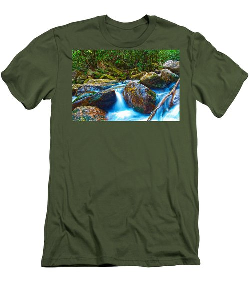 Men's T-Shirt (Slim Fit) featuring the photograph Mountain Streams by Alex Grichenko