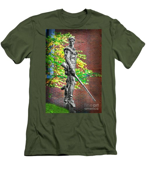 Mountaineer Statue Men's T-Shirt (Athletic Fit)