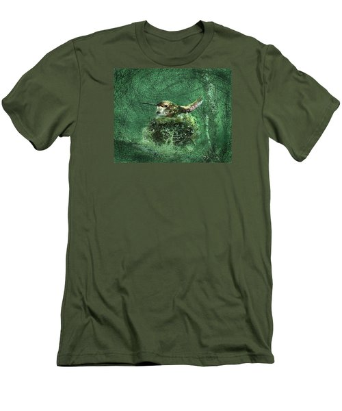 Men's T-Shirt (Slim Fit) featuring the photograph Mrs. Rufous by I'ina Van Lawick