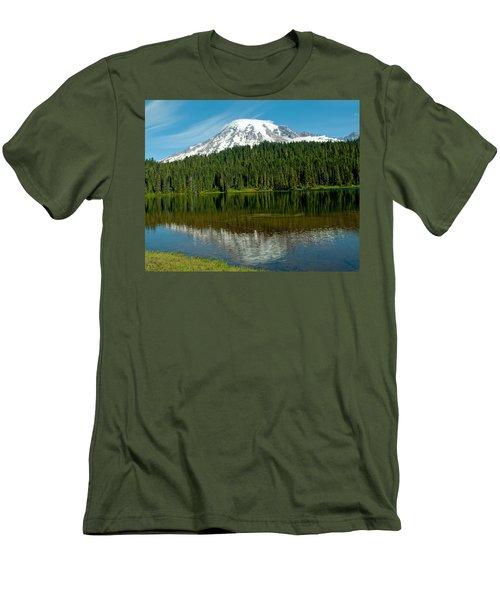 Men's T-Shirt (Slim Fit) featuring the photograph Mt. Rainier II by Tikvah's Hope