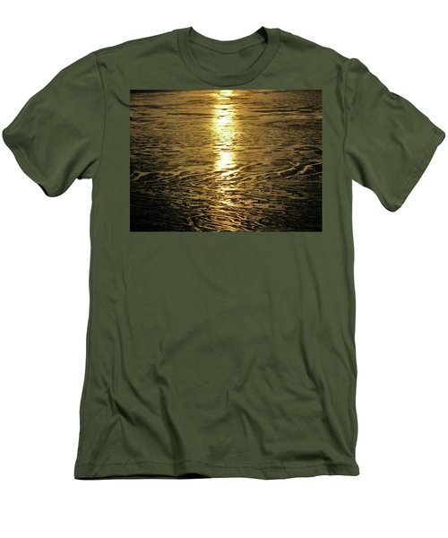 Men's T-Shirt (Slim Fit) featuring the photograph Muddy Reflection by Jeremy Rhoades