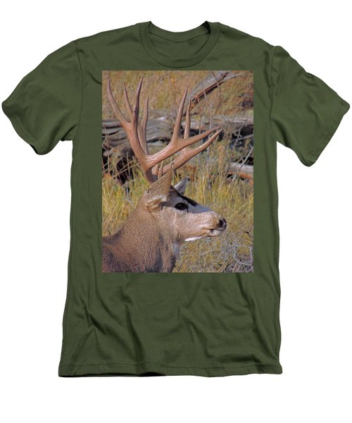 Men's T-Shirt (Slim Fit) featuring the photograph Mule Deer by Lynn Sprowl