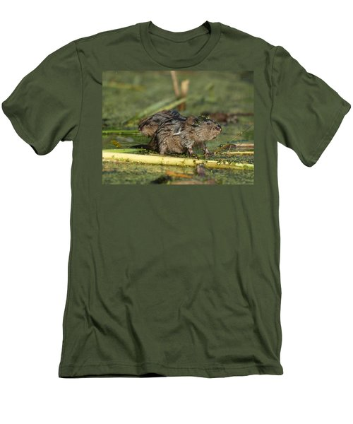 Men's T-Shirt (Slim Fit) featuring the photograph Munchkins by James Peterson
