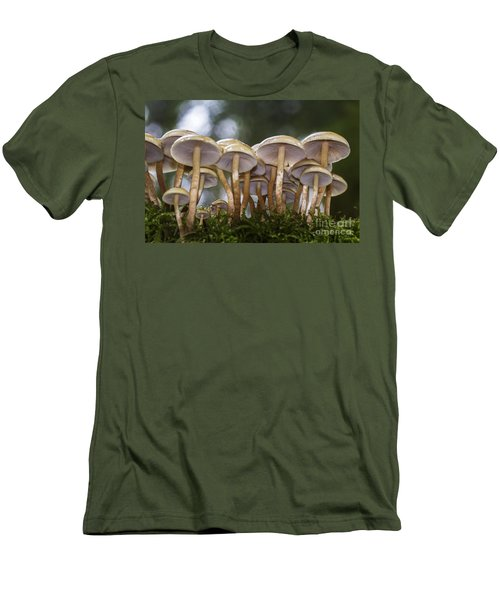 Mushroom Forest Men's T-Shirt (Slim Fit) by Sonya Lang