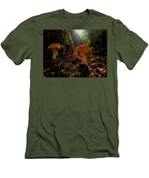 Men's T-Shirt (Slim Fit) featuring the photograph Mushroom Morning by GJ Blackman