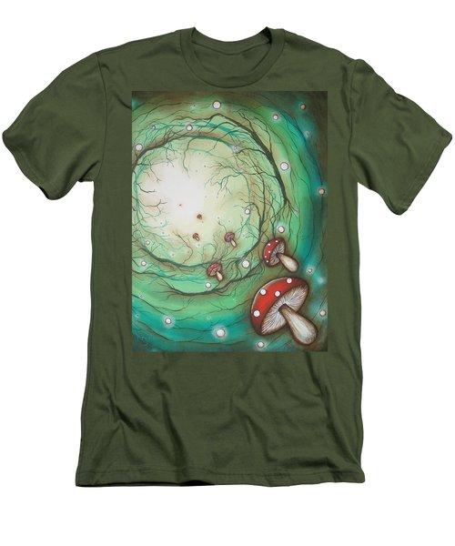 Mushroom Time Tunel Men's T-Shirt (Athletic Fit)