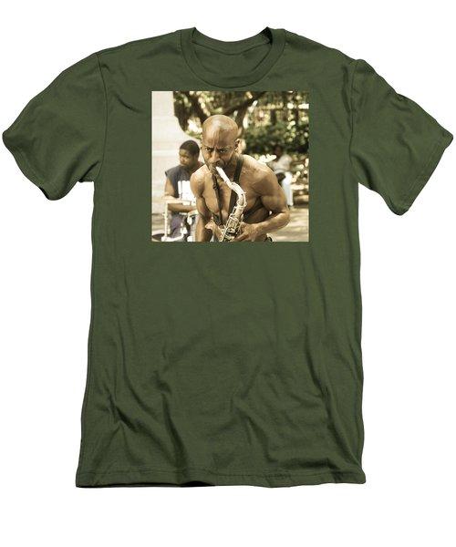 Music In The Park Men's T-Shirt (Slim Fit) by Menachem Ganon