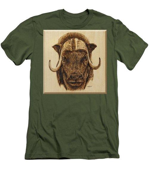 Muskox Men's T-Shirt (Slim Fit) by Ron Haist