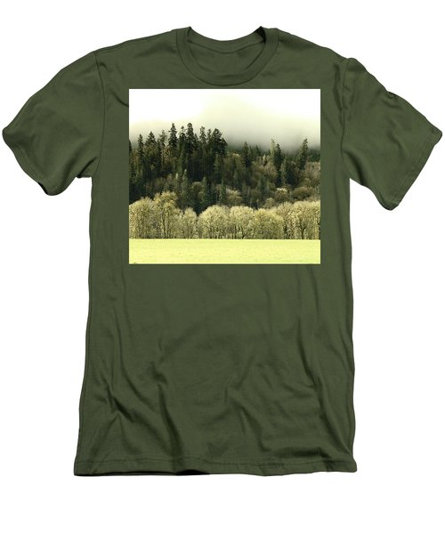 Men's T-Shirt (Slim Fit) featuring the photograph Muted Hillside Colors by Katie Wing Vigil