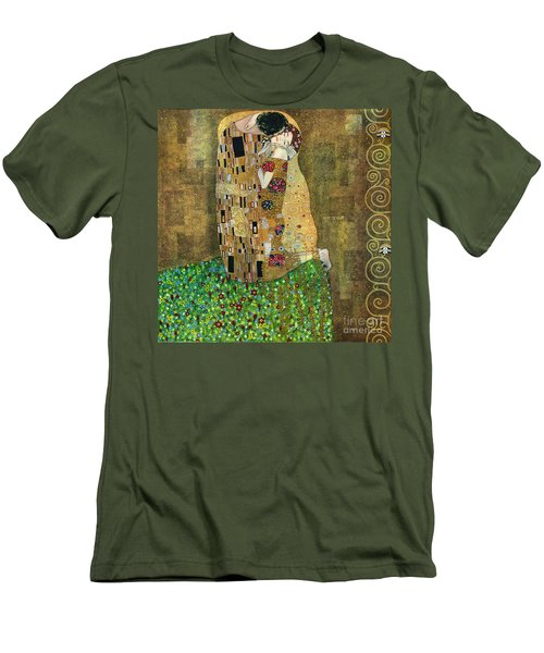 My Acrylic Painting As An Interpretation Of The Famous Artwork Of Gustav Klimt The Kiss - Yakubovich Men's T-Shirt (Athletic Fit)