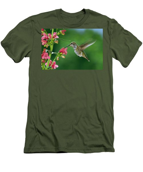 Men's T-Shirt (Slim Fit) featuring the photograph My Favorite Flowers by William Lee